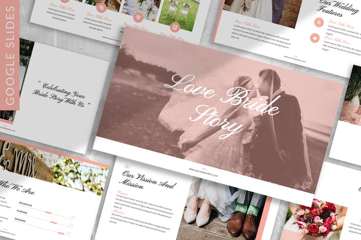 Love Bride Story - Wedding Google Slide Template