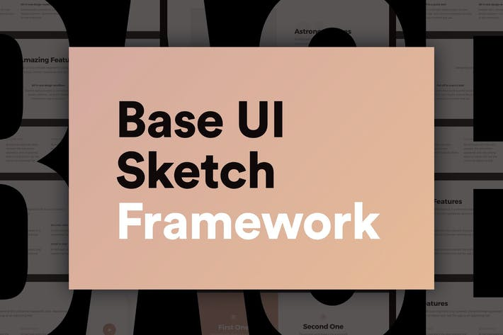 Thumbnail for Base UI – Huge 180+ Screens Sketch Framework