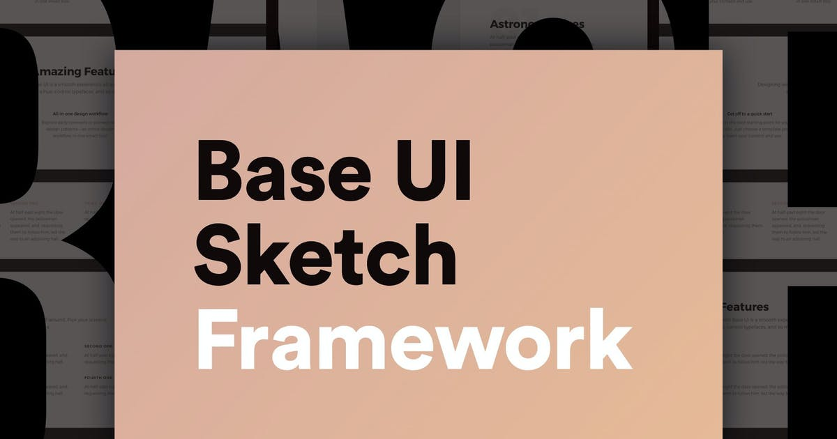 Download Base UI – Huge 180+ Screens Sketch Framework by RobertMayer