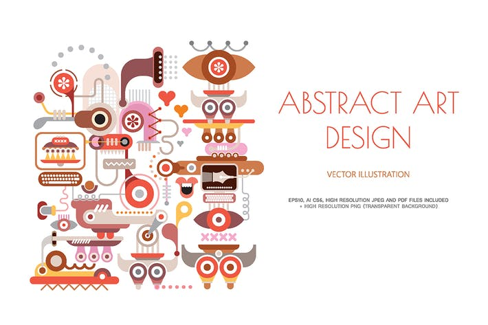 Cover Image For Abstract art design on a white vector illustration