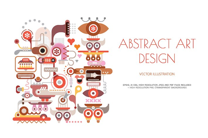 Thumbnail for Abstract art design on a white vector illustration