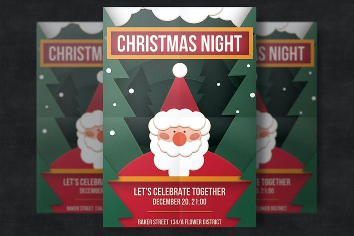 Thumbnail for Cute Christmas Flyer Template