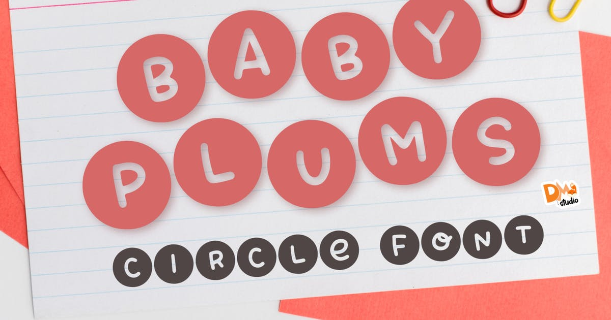 Download Baby Plums - Cute circle font by DmLetter