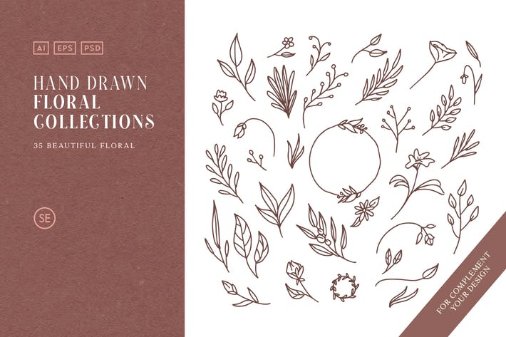 Thumbnail for Hand Drawn Floral Collections