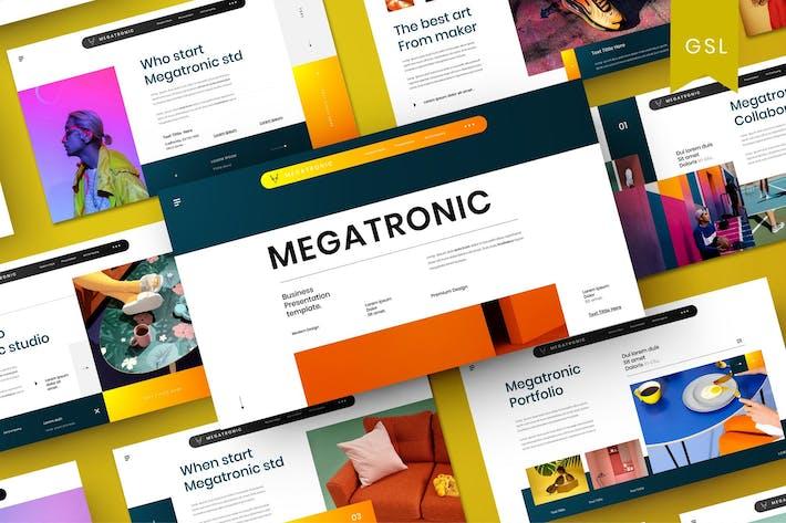 Thumbnail for Megatronic - Business Google Slide Template