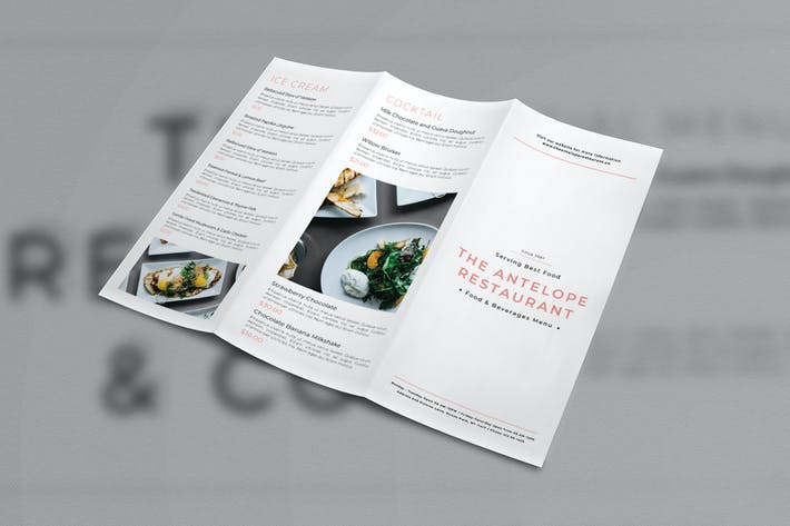 Thumbnail for Restaurant Trifold Brochure Menu