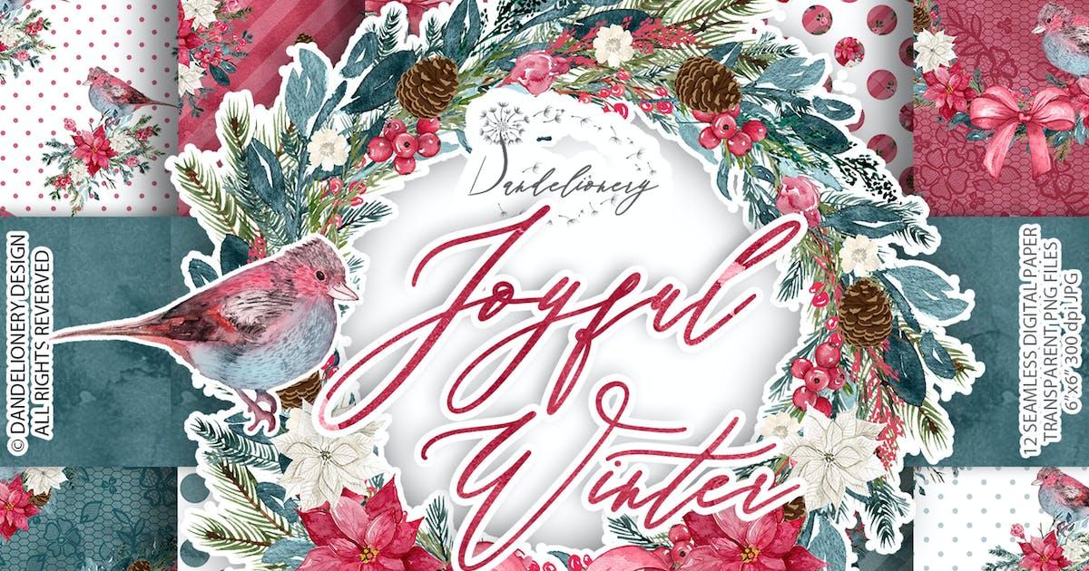 Download Joyful Winter digital paper pack by designloverstudio