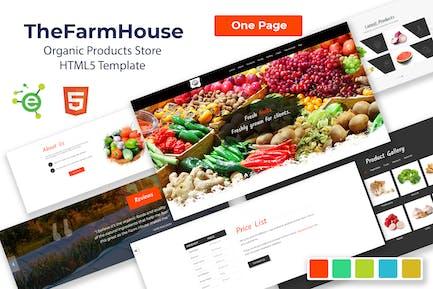 TheFarmHouse - Organic Products HTML5 Template