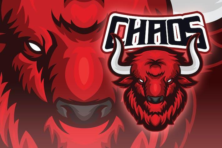 Intimidating Bull Head Esport Logo