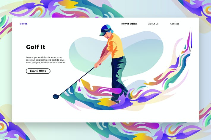 Thumbnail for Golf It - Banner & Landing Page