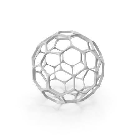 Decoración de esfera hexagonal