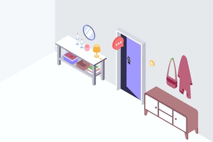 Thumbnail for Smarthouse Voice Control Isometric Illustration