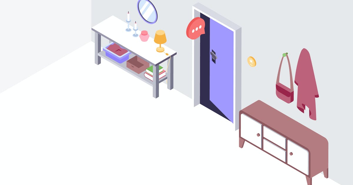 Download Smarthouse Voice Control Isometric Illustration by angelbi88