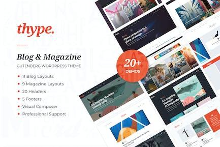 Thype | Personal Blog & Travel WordPress Theme