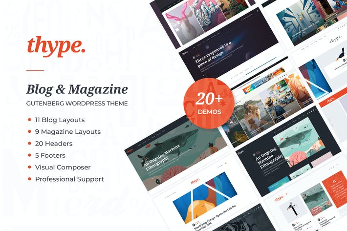 Thumbnail for Thype | Personal Blog & Travel WordPress Theme
