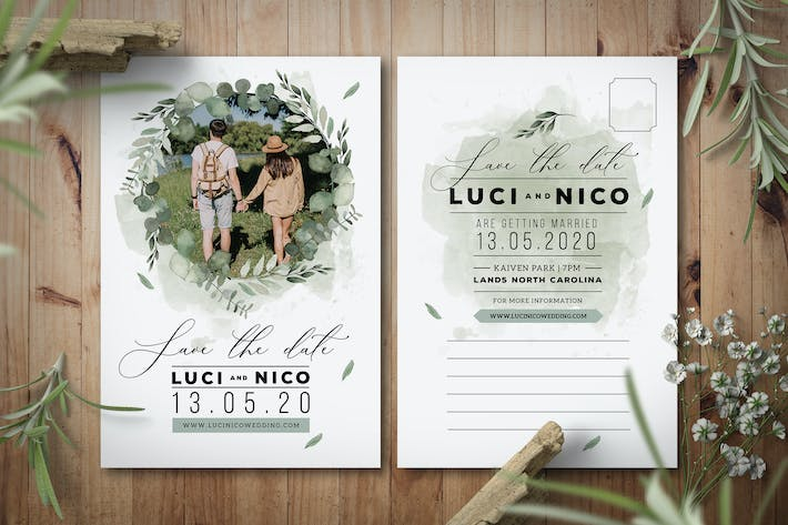 Cover Image For Save the Date Post Card