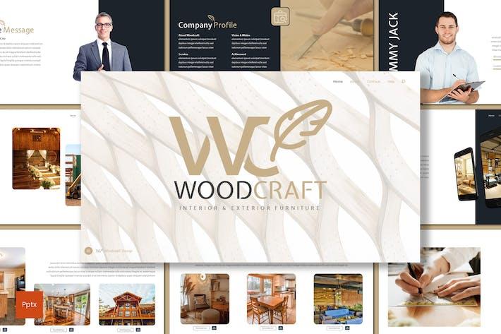 Thumbnail for Woodcraft - Мебель Powerpoint Шаблон