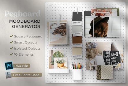 Pegboard - Moodboard Scene Generator