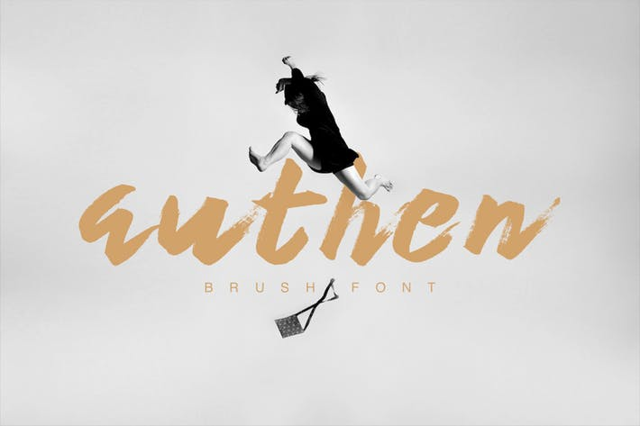 Cover Image For Authen Brush Font