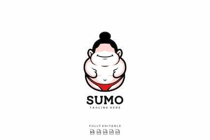 Happy Sumo Cute Logo Template