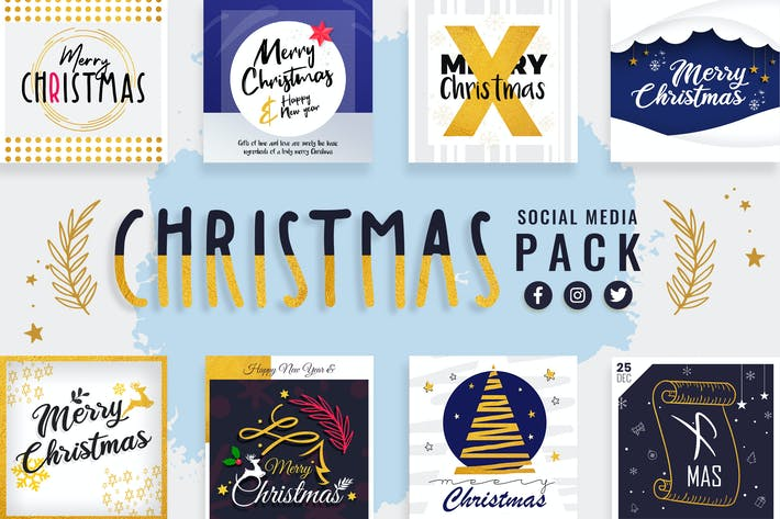 Thumbnail for Christmas Social Media Templates