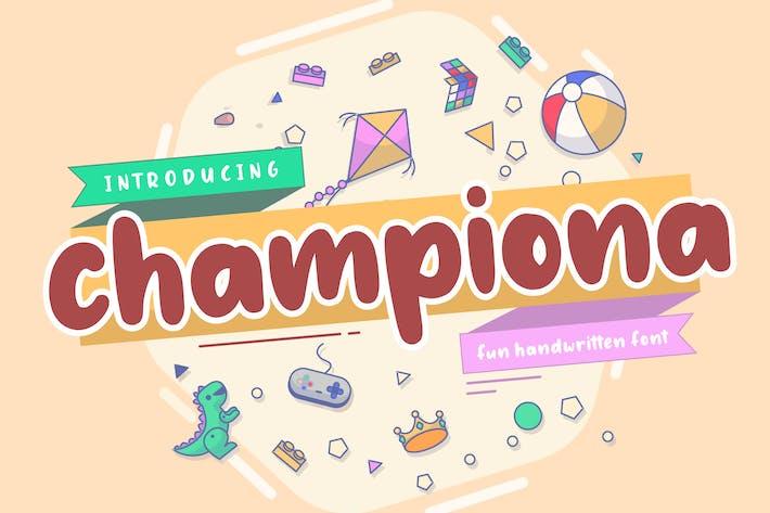 Thumbnail for Championa Display Font YH