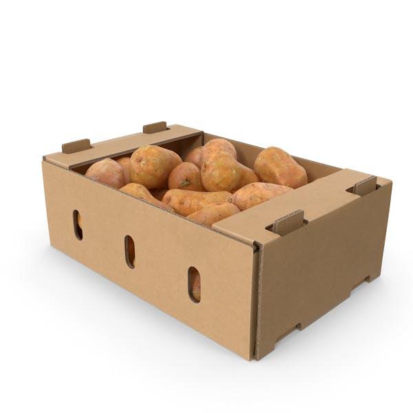 Thumbnail for Cardboard Box of Sweet Potatoes
