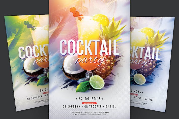 Thumbnail for Cocktail Party Flyer