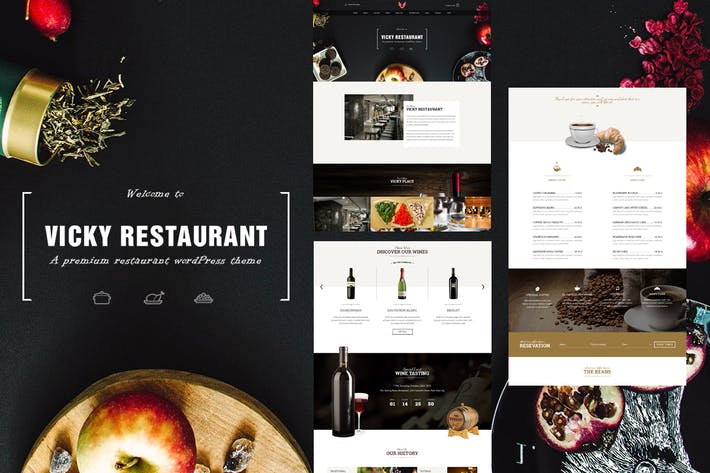 Thumbnail for Vicky - Restaurant PSD Template