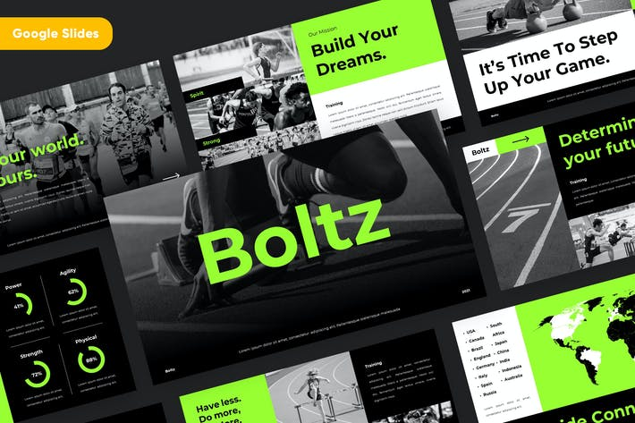 BOLTZ - Sport & Fitness Google Slides Template