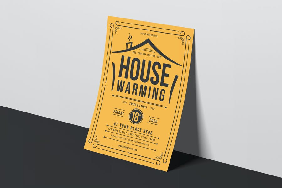 House Warming Invitation Flyer Template