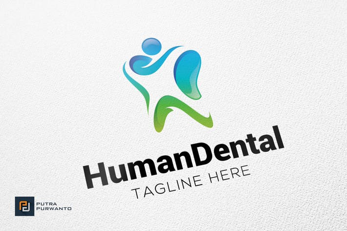 Cover Image For Human Dental - Logo Template