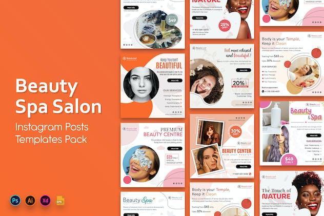 Beauty and Spa Social Media Post Templates