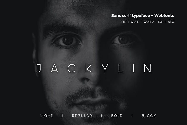 Thumbnail for Jackylin - Typeface + WebFont with 4 weights
