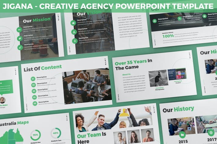 Thumbnail for Jigana - Creative Agency Powerpoint Template