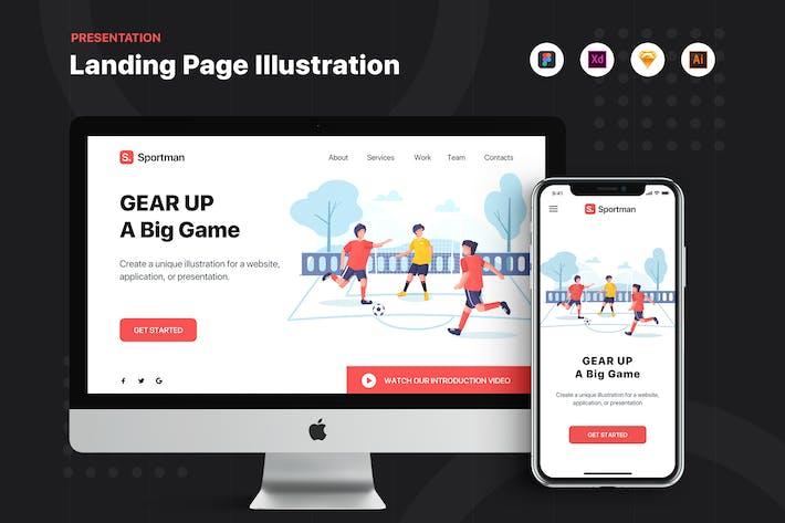 Thumbnail for Sportman - Banner & Landing Page