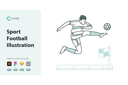 Cyane - Sportfußball-Illustration
