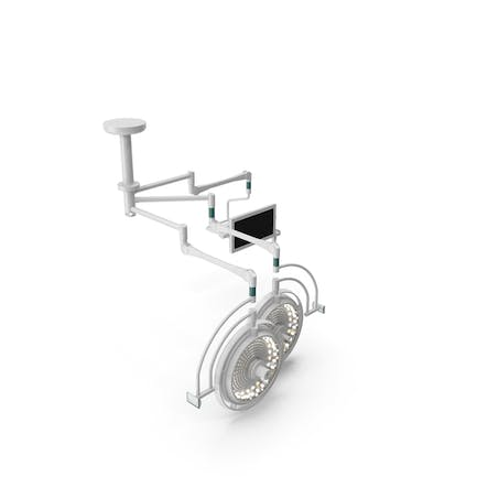 Ceiling Mount Two Surgical Light with Monitor Generic