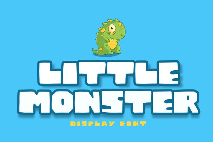 Thumbnail for Little Monster Display Font