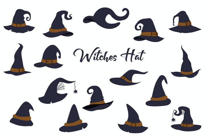 Thumbnail for Witch Halloween Hat Hand Drawn