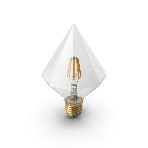 Thumbnail for Bombilla LED de filamento con forma de diamante
