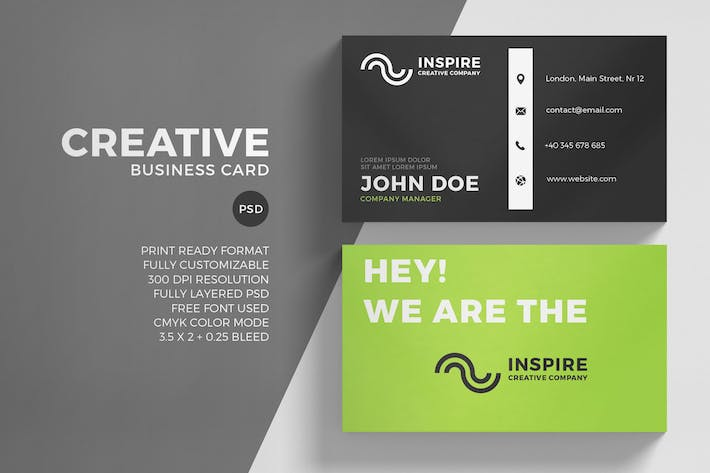 Thumbnail for Green Creative Business Card