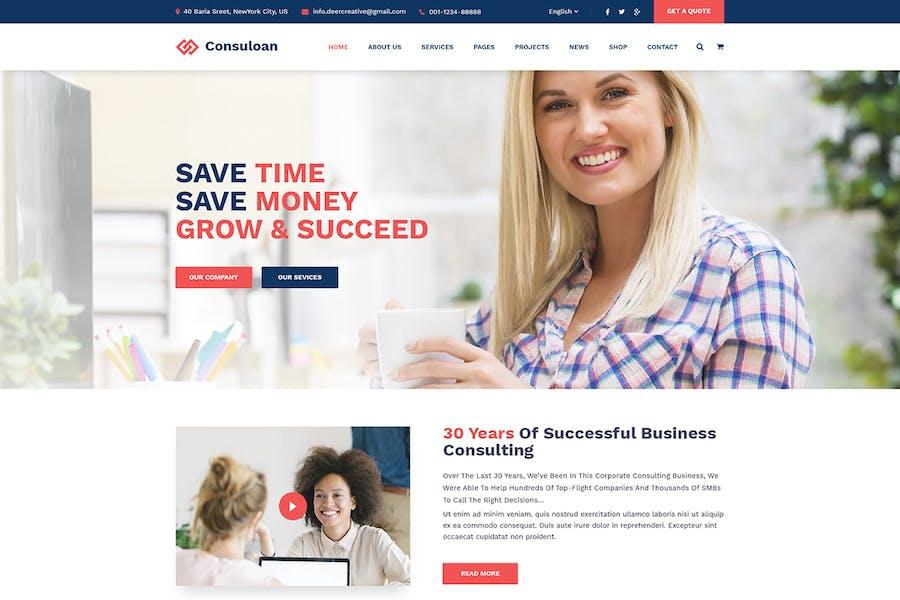 Consuloan   Multipurpose Consulting WordPress Them
