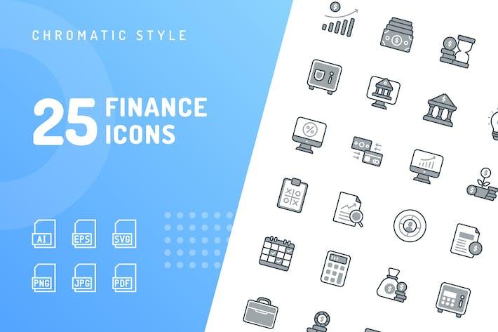 Finance Chromatic Icons