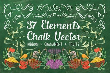 37 Element Chalk Vector