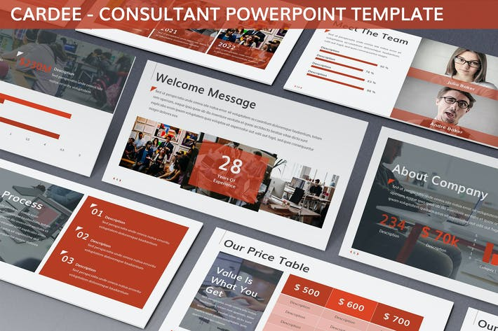 Thumbnail for Cardee - Consultant Powerpoint Template