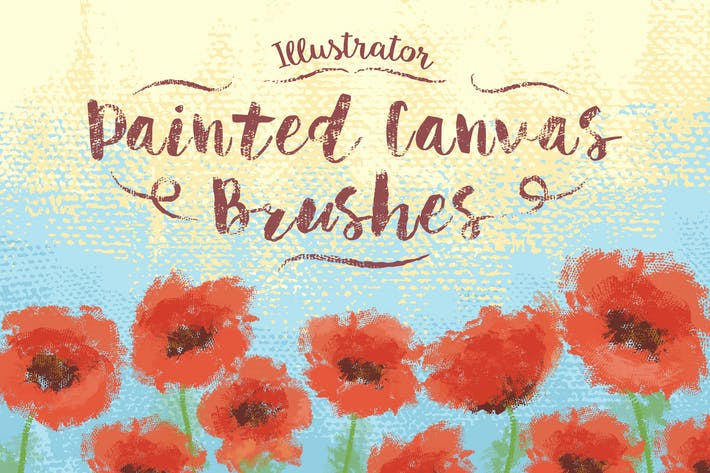 Thumbnail for Illustrator Painted Canvas Brushes