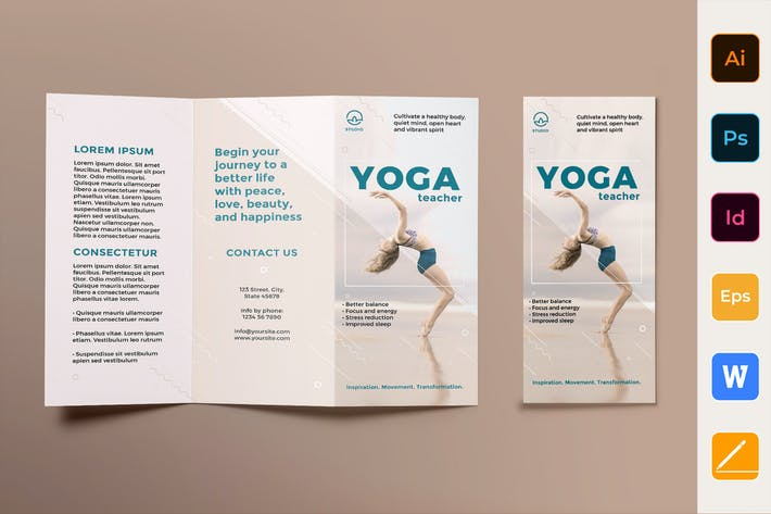 Thumbnail for Yoga Instructor Brochure Trifold