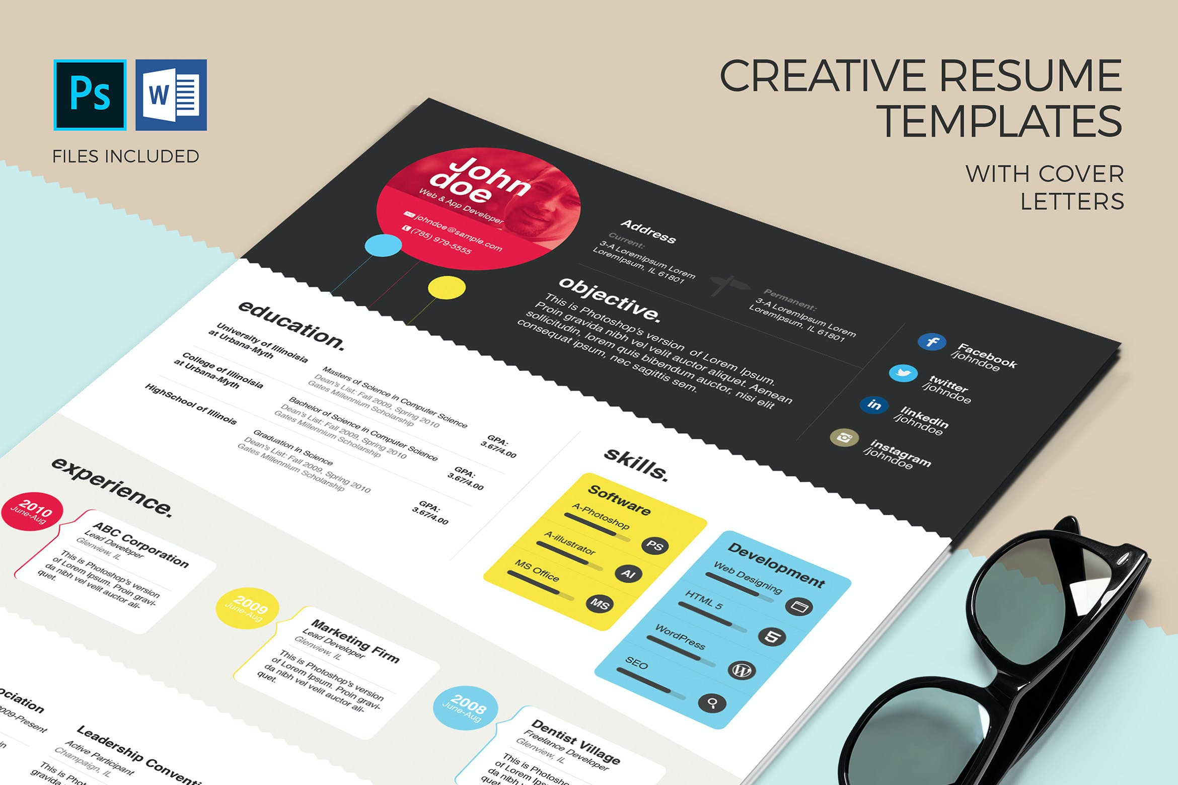 Creative Resume Template & Cover Letter by zippypixels on ...