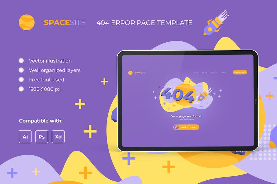 404 Error Page – Lost in space